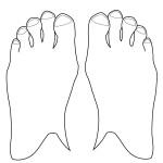 outline-body parts-feet-01