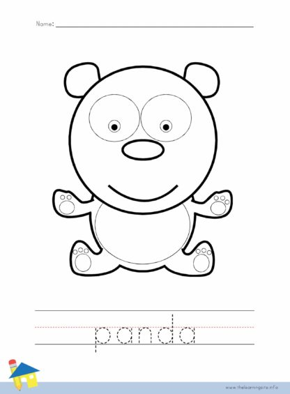 Panda Coloring Worksheet
