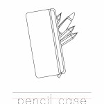 Pencil Case Coloring Worksheet