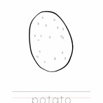 Potato Coloring Worksheet