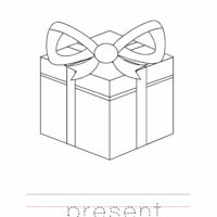 Christmas Present Coloring Worksheet