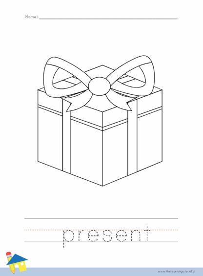 Christmas Present Coloring Worksheet