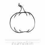 Pumpkin Coloring Worksheet