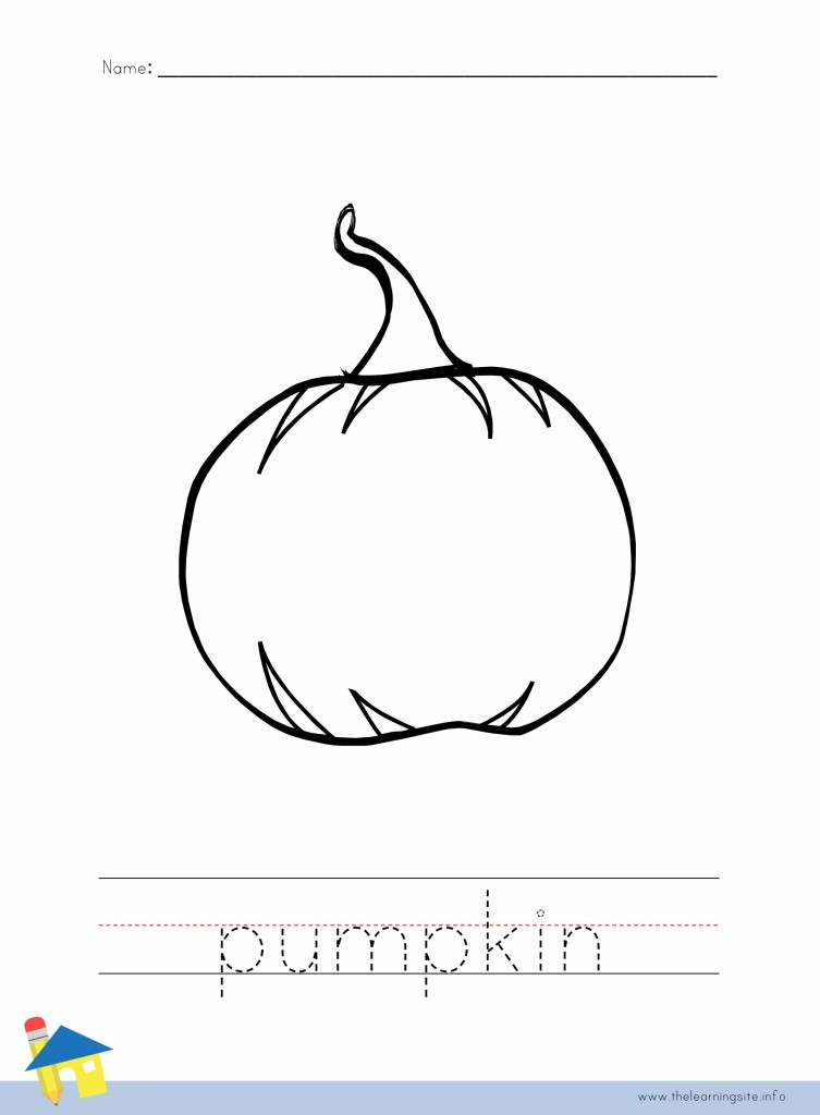 Pumpkin Coloring Page Outline