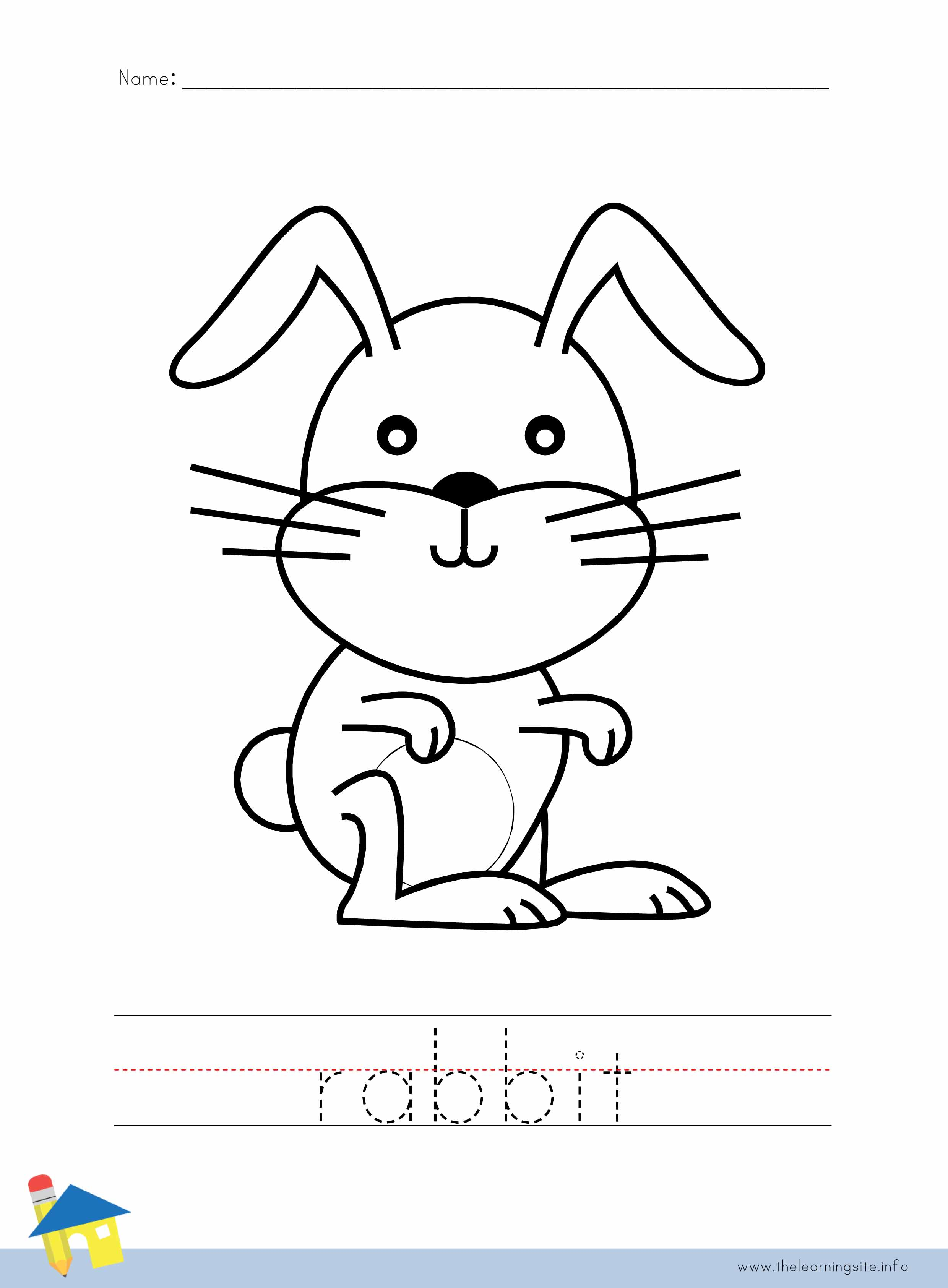 Rabbit Coloring Worksheet