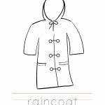 Raincoat Coloring Worksheet