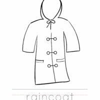 Raincoat Coloring Worksheet