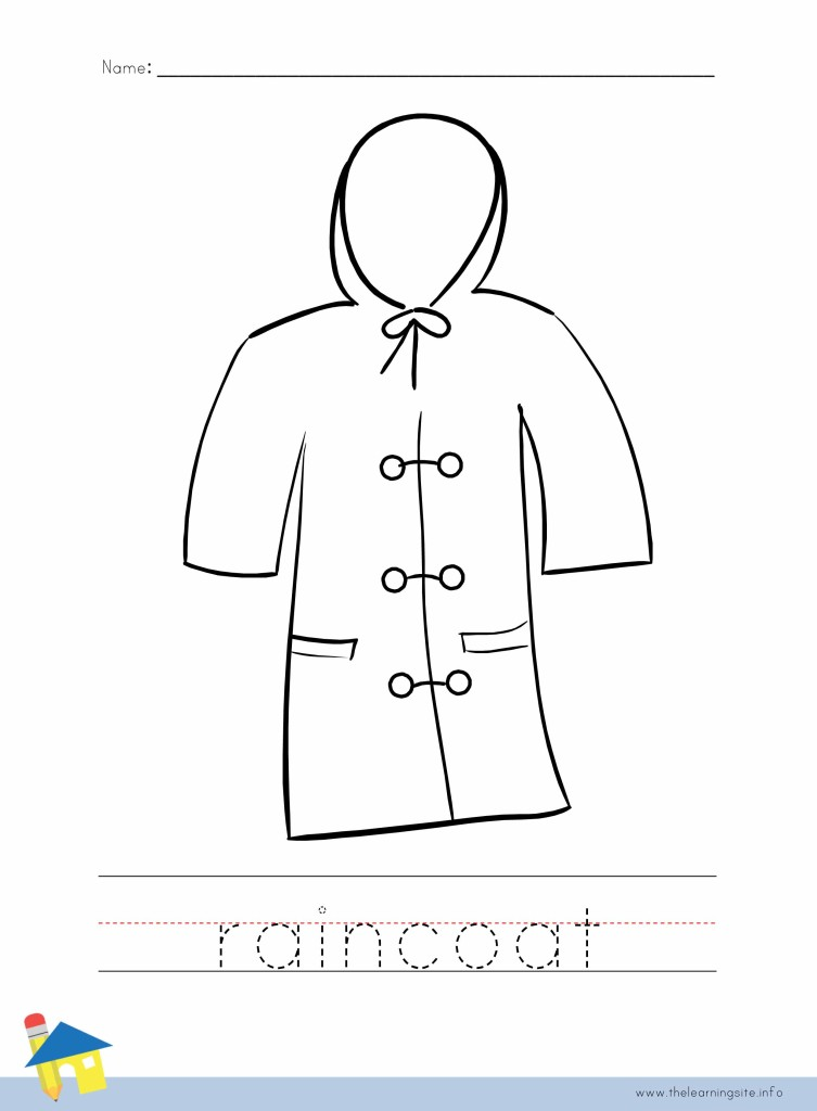 Raincoat Coloring Page Outline