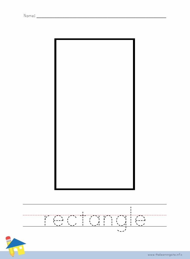 Rectangle Coloring Page Outline