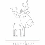 Reindeer Coloring Worksheet
