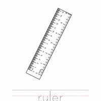 Ruler Coloring Worksheet