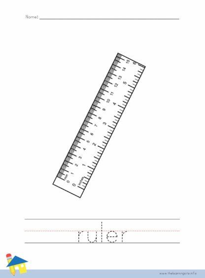 Ruler Coloring Worksheet