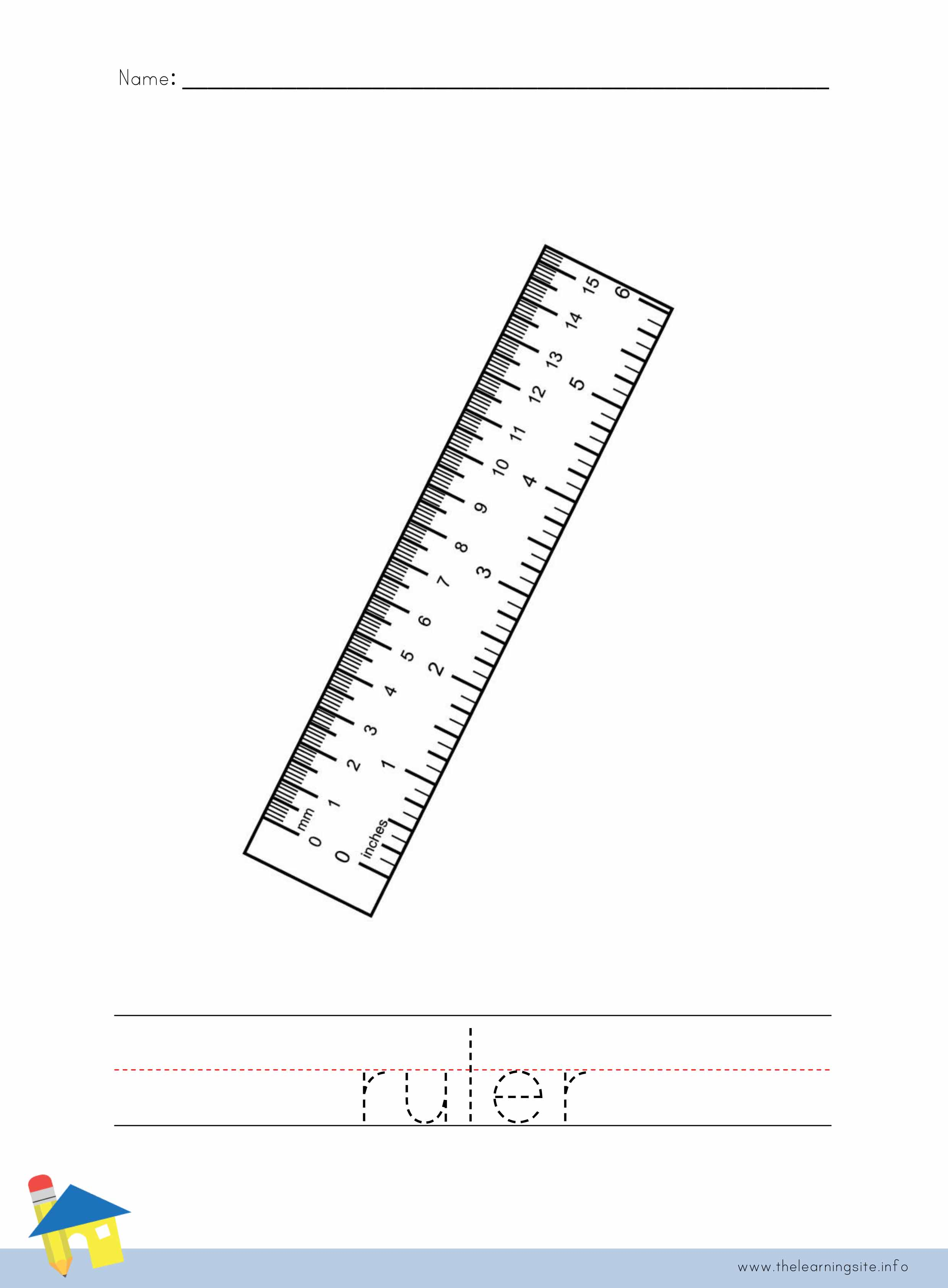 Uncategorized Ruler Worksheets the learning site ruler coloring worksheet