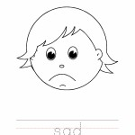 Sad Coloring Worksheet