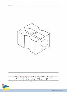 Sharpener Coloring Worksheet