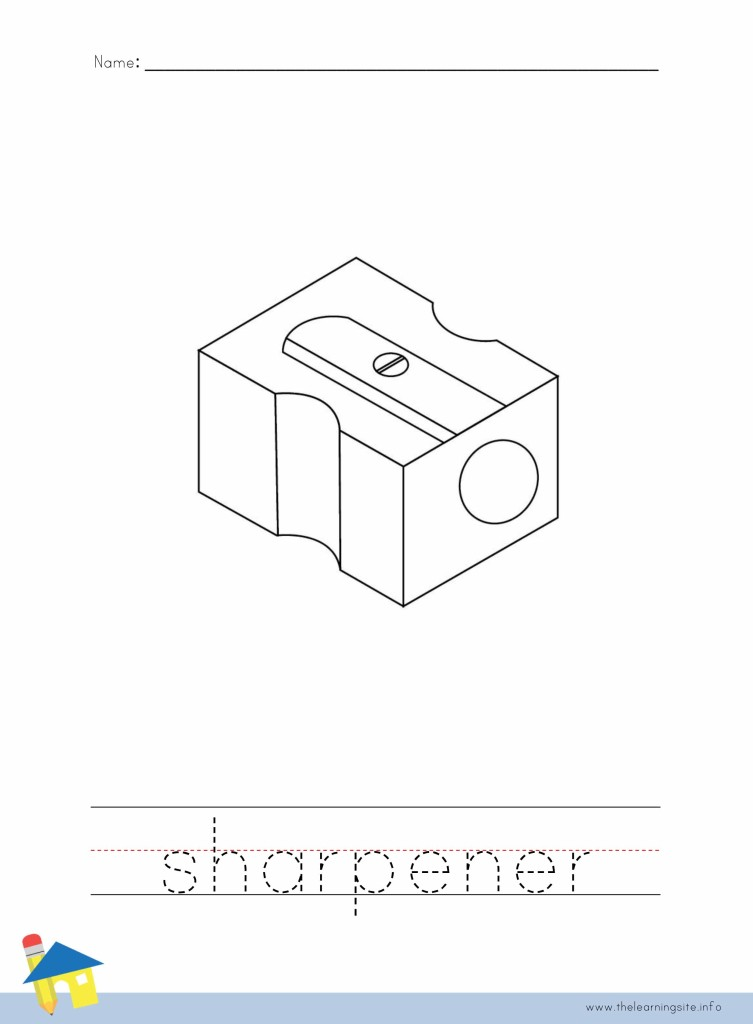 Sharpener Coloring Page Outline