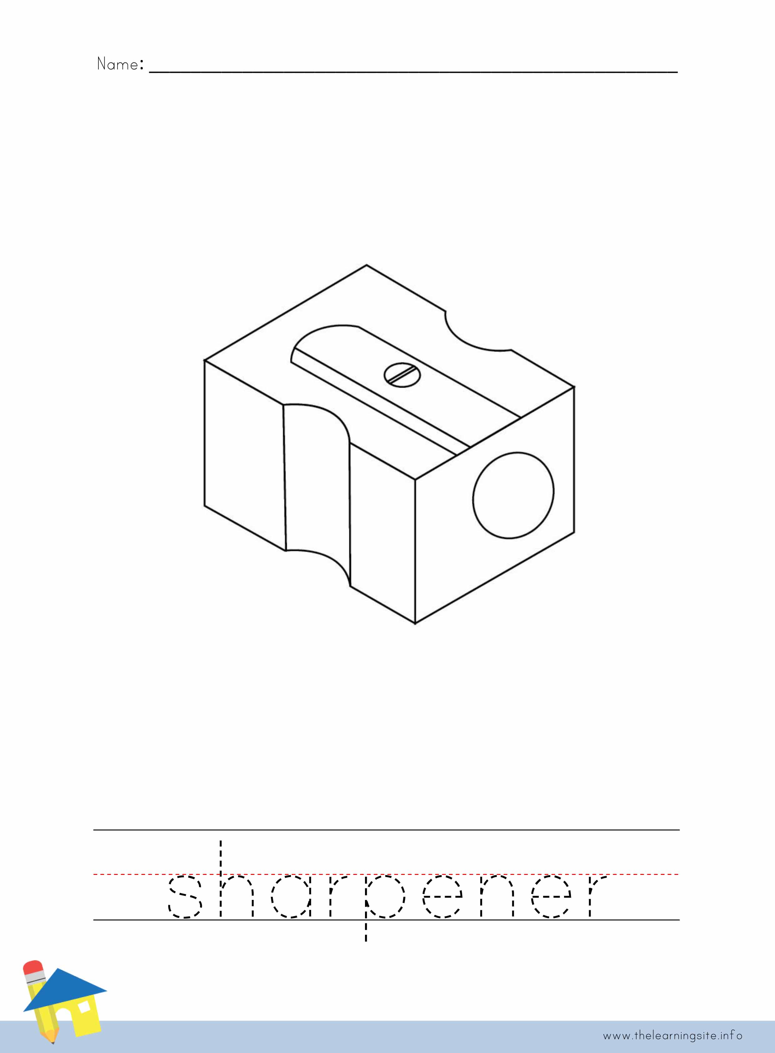 Sharpener Coloring Worksheet