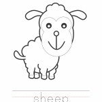 Sheep Coloring Worksheet