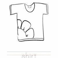 Shirt Coloring Worksheet