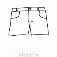 Shorts Coloring Worksheet