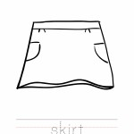 Skirt Coloring Worksheet