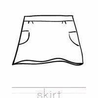 Skirt Coloring Worksheet