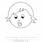 Sleepy Coloring Page, Sleepy Outline