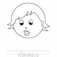 Sleepy Coloring Page, Sleepy Outline