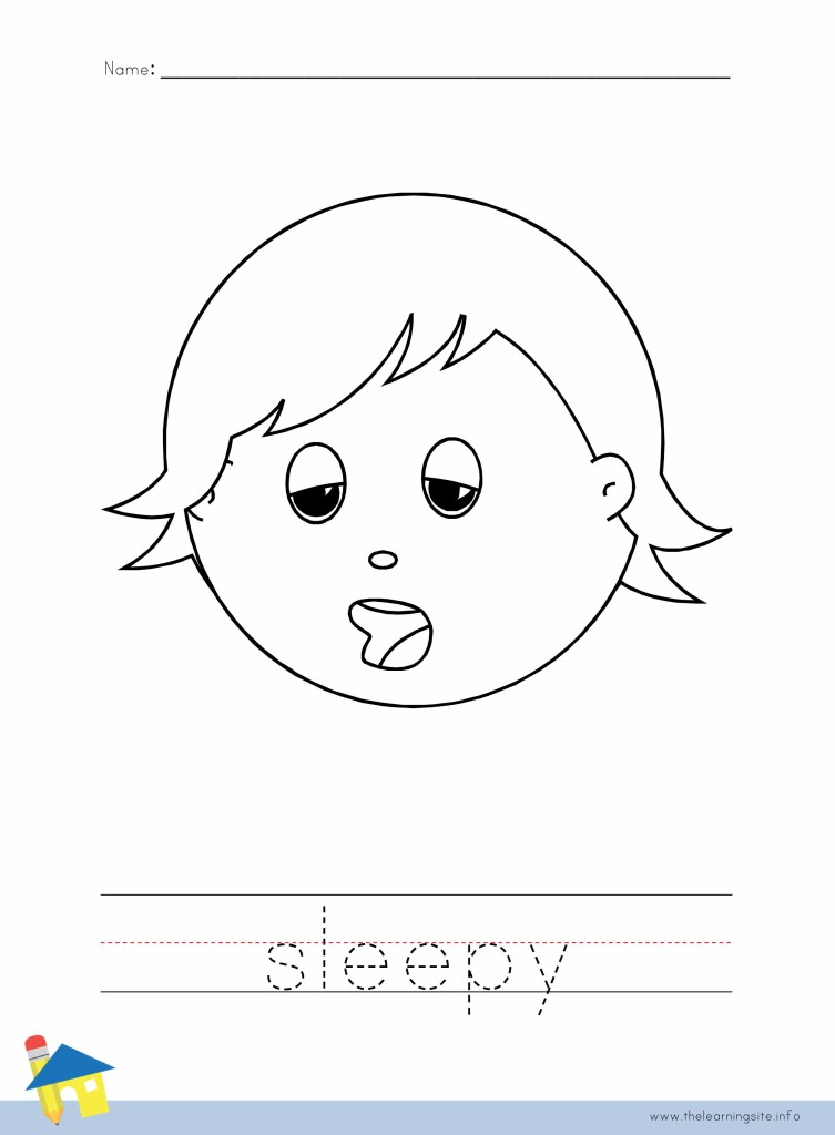 Sleepy Coloring Page Outline