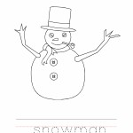 Snowman Coloring Worksheet