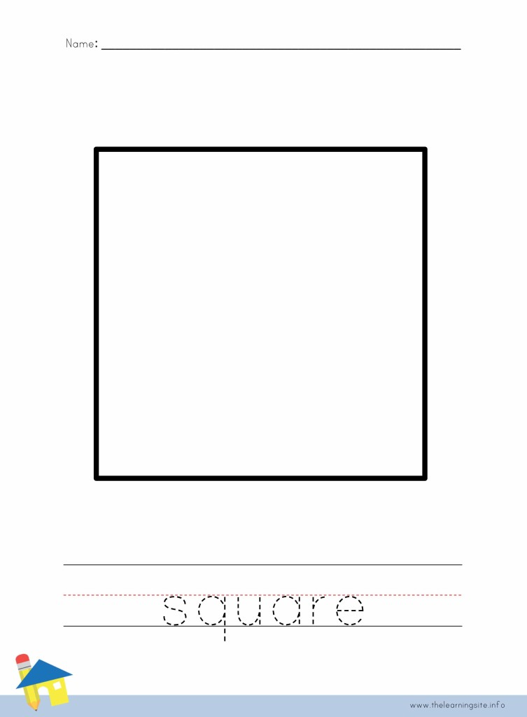 Square Coloring Page Outline