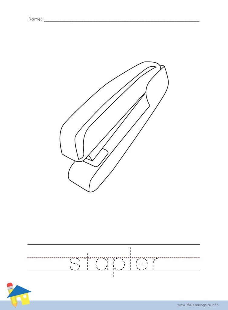 Stapler Coloring Page Outline