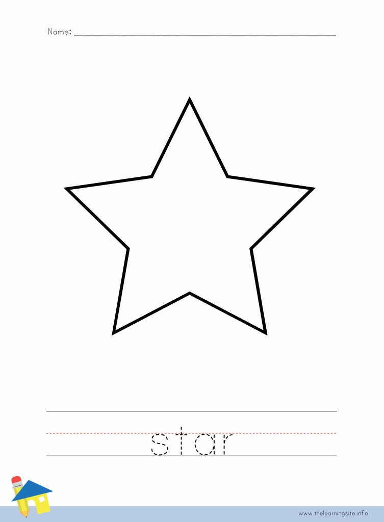 Star coloring page outline