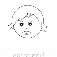 Suprised Coloring Page, Surprise Outline