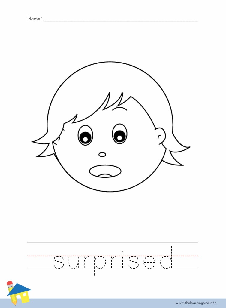 Suprised Coloring Page Outline