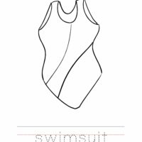 Swimsuit Coloring Worksheet