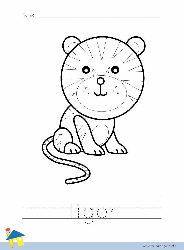 Tiger Coloring Worksheet