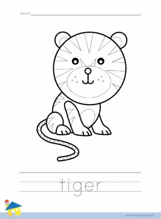 Tiger Coloring Worksheet
