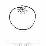 Tomato Coloring Worksheet