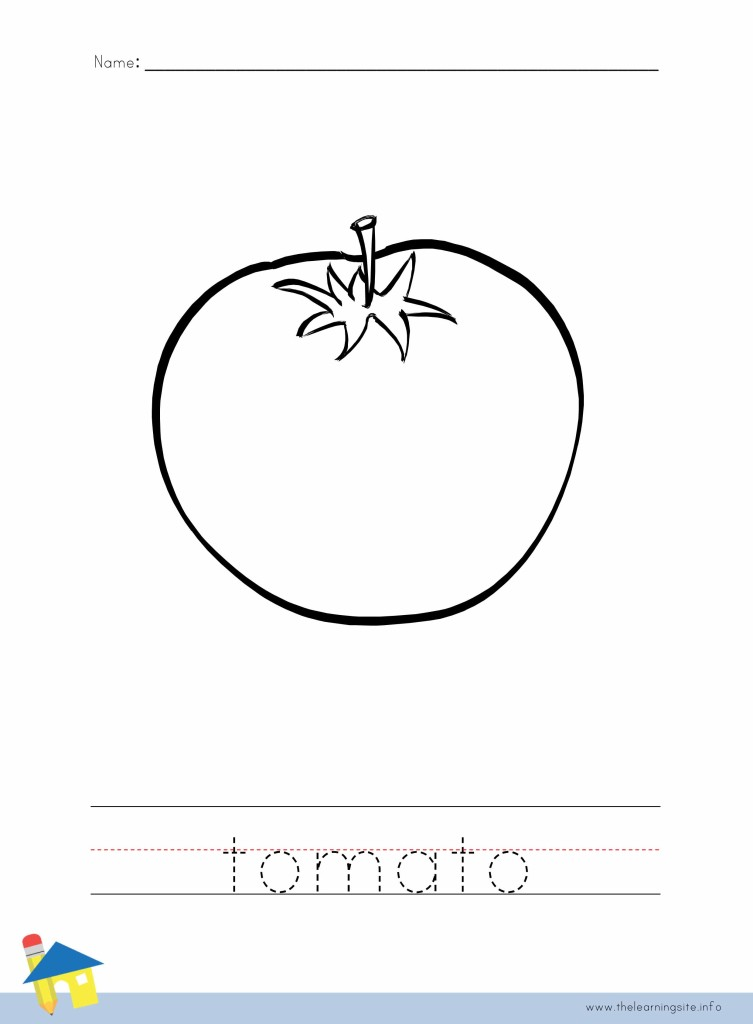 Tomato Coloring Page Outline