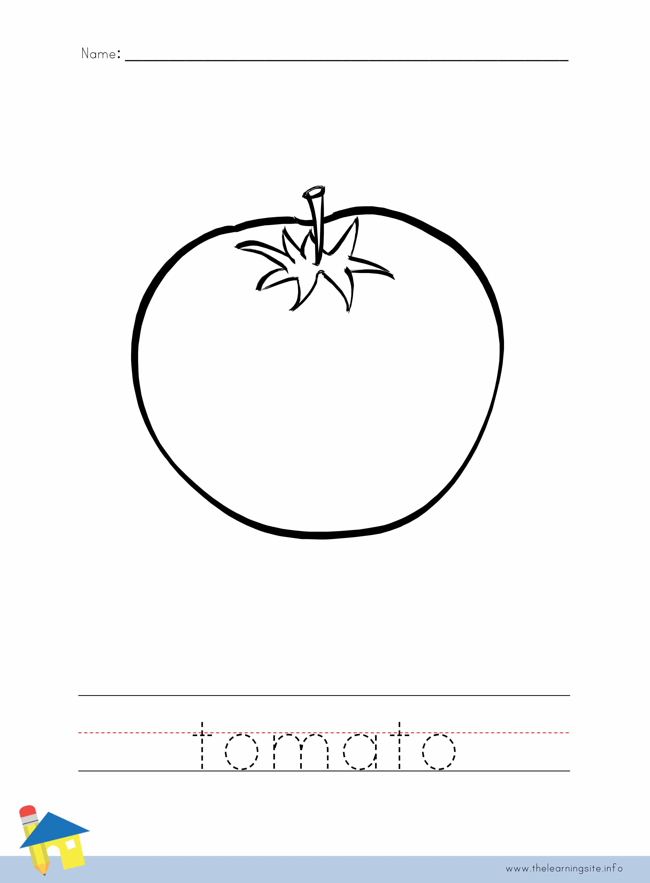 Tomato Coloring Worksheet