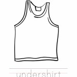 Undershirt Coloring Worksheet