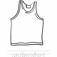 Undershirt Coloring Worksheet