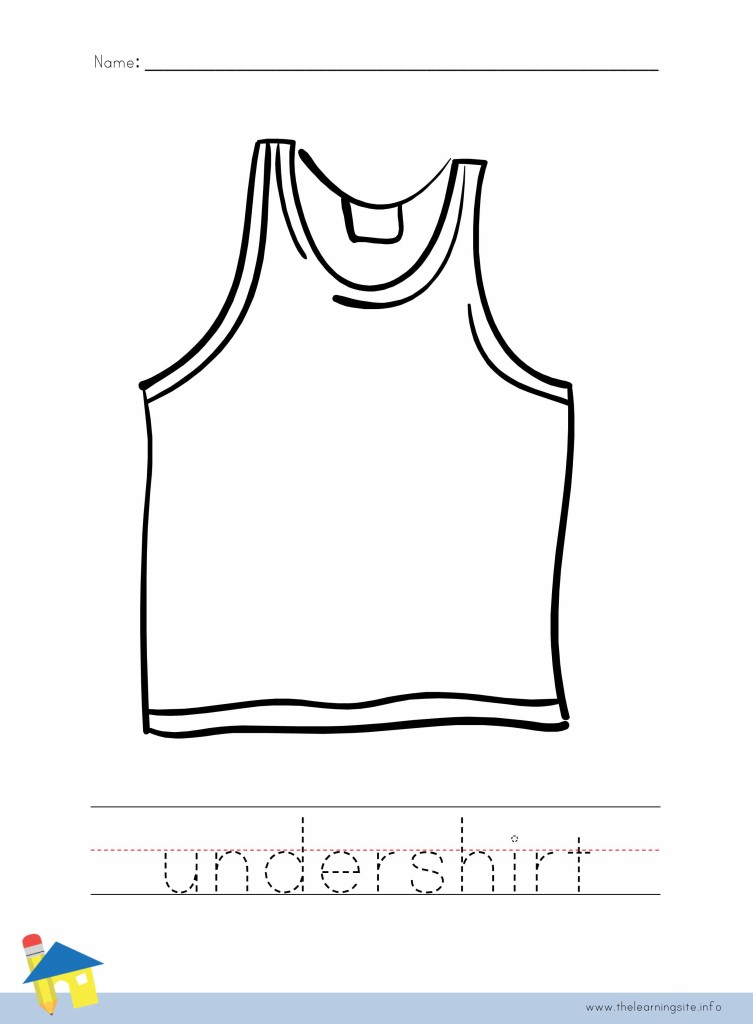 Undershirt Coloring Page Outline