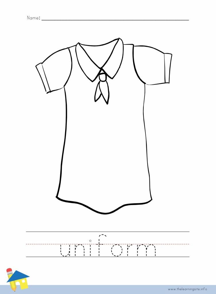 uniform coloring page outline