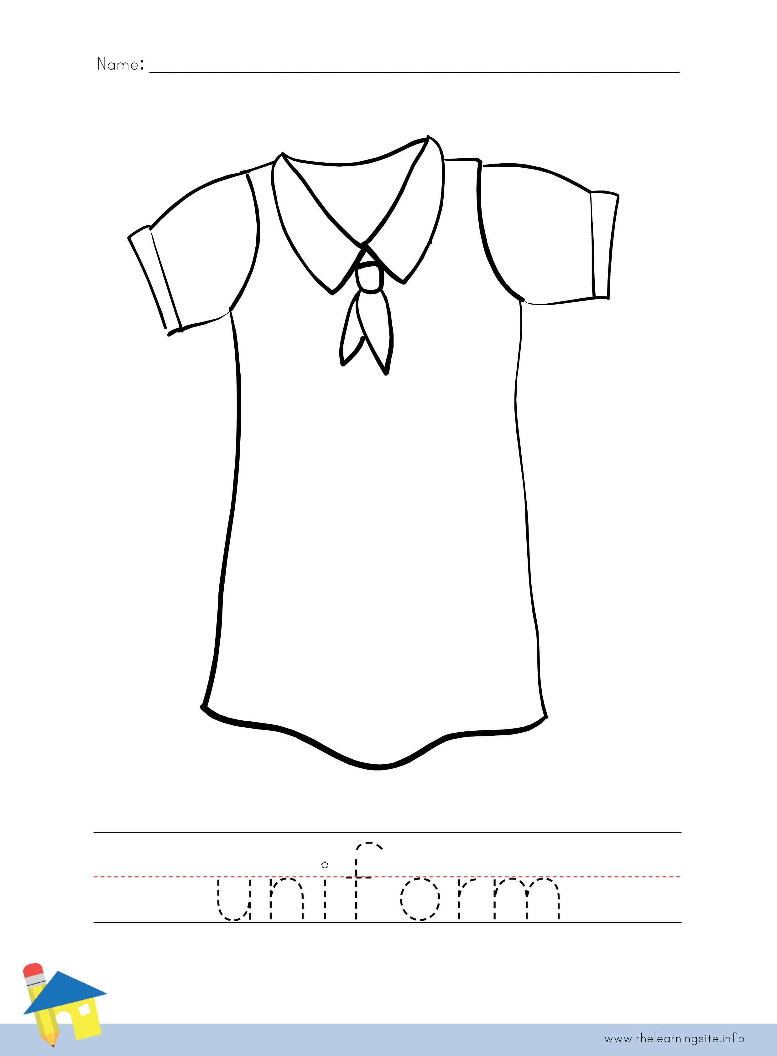 Uniform Coloring Worksheet