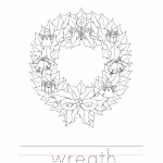 Wreath Coloring Worksheet