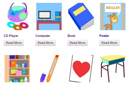 Free Flashcards – Classroom Objects