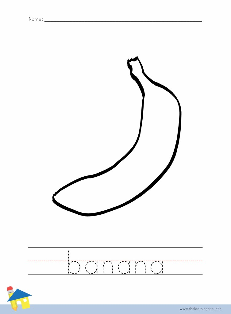 Banana Coloring Page Outline