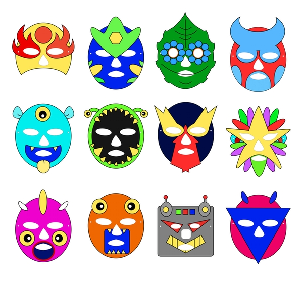 colored masks preview